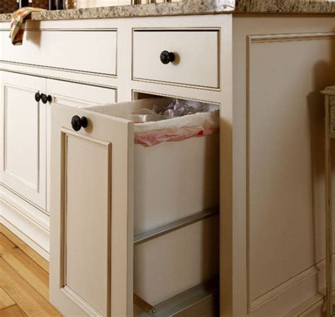 kitchen island with garbage bin kitchen pull out trash bins both functional and aesthetical