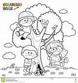 Colorare Dia Pagina Bambini Albero Che Coloring Arvore Colorir Setembro Desenho Boek Kleurende Spelen Kinderen Boom Een Het Tree Playing sketch template