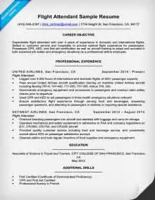 flight attendant description for resume flight attendant resume sle writing tips resume companion