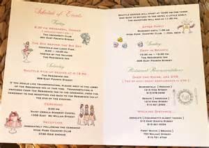 wedding schedule of events wedding wednesday