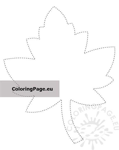 printable leaf tracing worksheet coloring page