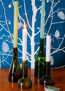best out of waste craft ideas decozilla With kitchen colors with white cabinets with how to turn a wine bottle into a candle holder