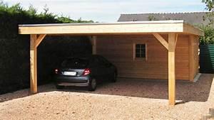 carport bois neuville contemporain garage lyon par With abri de jardin contemporain 16 cuisine en bois par perene