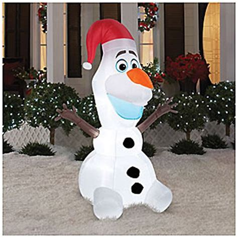 disney frozen olaf  foot christmas airblown inflatable