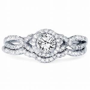 diamond 70ct infinity engagement ring wedding band set With infinity engagement ring and wedding band