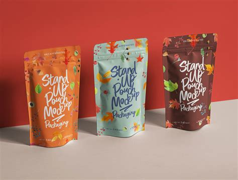 This is a collection of free stand up pouch mockup psd for the presentation of the branding design. Free Stand-Up Pouch Packaging Presentation Mockup PSD ...