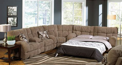 Siesta Reclining Sectional W/ Sleeper (porcini) Catnapper