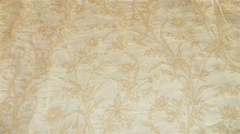 Brocade Upholstery Fabric by White Flower Print Brocade Upholstery Fabric 1