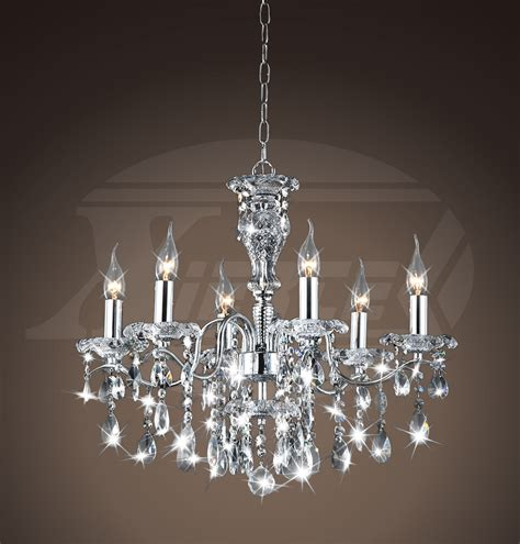 Maddison Shine 6light Gleaming Chrome Crystal Chandelier