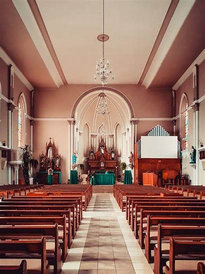 Church Empty Covid Pandemic Religious Distancing Social