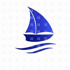 Sailboat simple silhouette Royalty Free Vector Clip Art ...