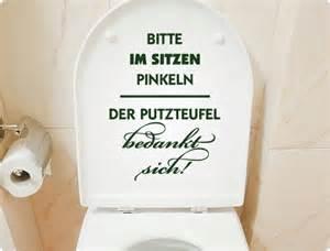 badezimmer schwarz weiss wc aufkleber bitte im sitzen pinkeln der putzteufel bedankt sich i wandtattoo de
