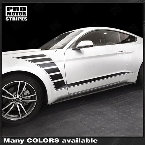 ford mustang   side accent strobe stripes