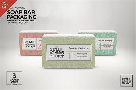 Apply your branding, logo or label design in a few clicks to this mockup and your presentation is ready to rock. Retail Soap Bar Packaging Mockup