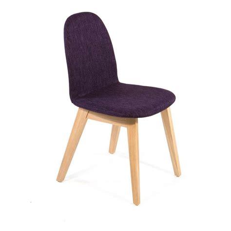 chaise tissu et bois chaise scandinave en bois et tissu puccini mobitec 4
