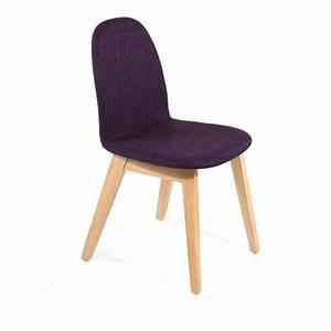 Tissu Pour Chaise : chaise scandinave en bois et tissu puccini mobitec 4 pieds tables chaises et tabourets ~ Teatrodelosmanantiales.com Idées de Décoration