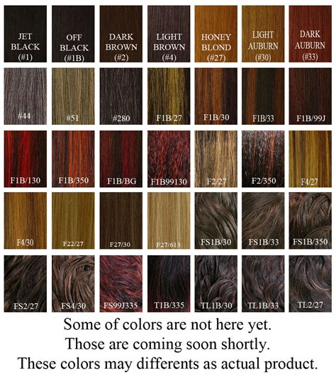 Hair Color Chart by Weave Hair Color Chart Photosgratisylegal