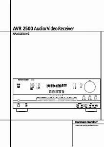 Harman Kardon Avr 2500  Serv Man7  User Guide    Operation