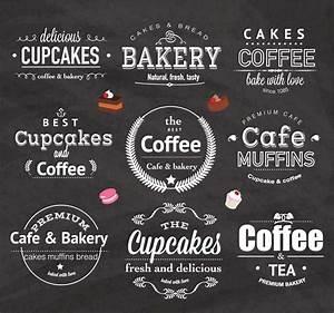 Vintage bakery cafe logo design set vector Free download
