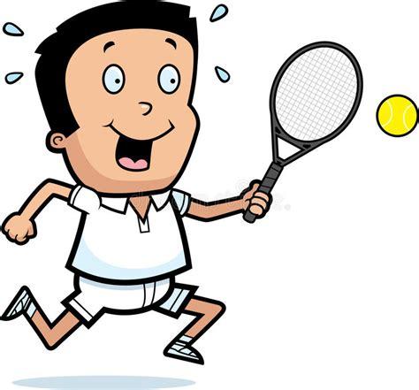 cartoon boy tennis stock vector illustration  clipart