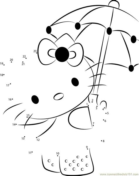 hello with umbrella dot to dot printable worksheet connect the dots