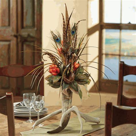 antler horn floral arrangement