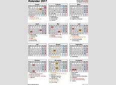 Kalender 2017 zum Ausdrucken in Excel 16 Vorlagen