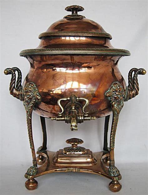 copper vase antique stunning georgian antique copper samovar 1800 tea urn pot 2588
