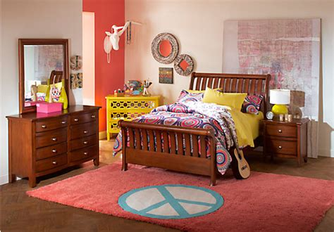 Rooms To Go Kids : Santa Cruz Cherry Pc Full Sleigh Bedroom-full Bedroom