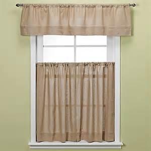 maison kitchen window curtain tiers in linen bed bath beyond