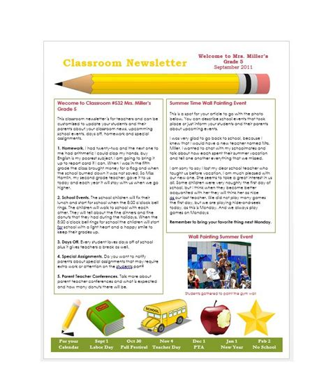 Student Newsletter Templates Free by 50 Free Newsletter Templates For Work School And Classroom