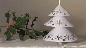 Deco Noel En Papier : noel deco christmas decoration sapin napperon papier diy youtube ~ Melissatoandfro.com Idées de Décoration