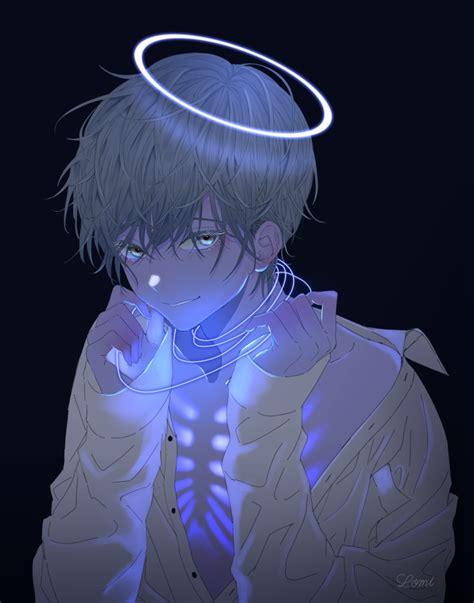 blue aesthetic anime boy