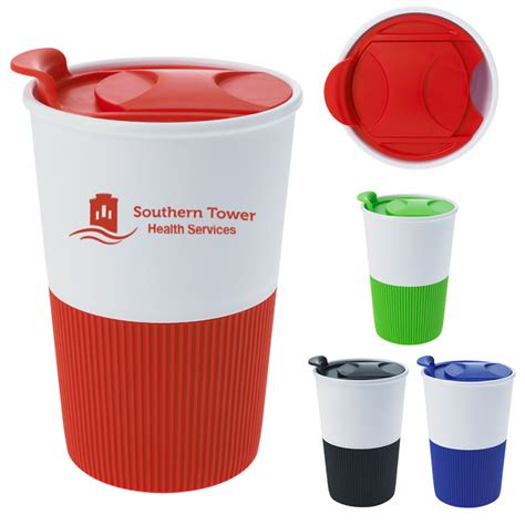 Promotional 14 Oz Polypropylene Gripper Tumbler