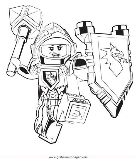 lego nexo knights  gratis malvorlage  comic