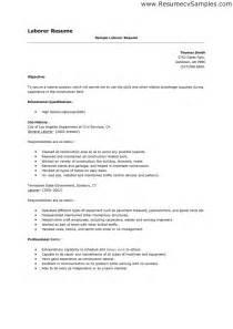 resume exles for labourer laborer resume berathen