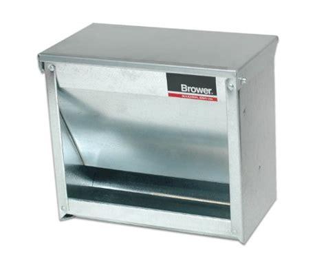 brower hog feeder brower 1cf galvanized steel small animal feeder business