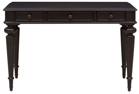 Black Writing Desk With Drawers by Rubbed Black 3 Drawer Writing Desk Ds A133 550 Pulaski