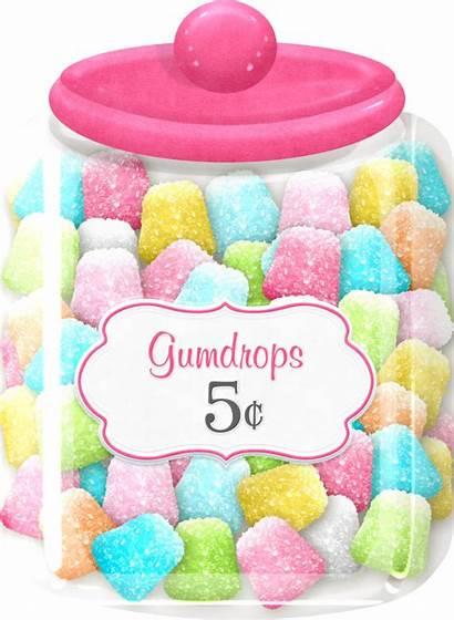 Jar Candy Clipart Sweets Gumdrop Clip Gumdrops