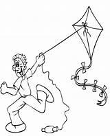 Kite Coloring Flying Pipa Colorir Printable Colorare Desenhos Desenho Colorear Disegni Pipas Estate Boy Outline Bambini Menino Dibujos Aquilone Summer sketch template