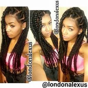 Box braids styles on Pinterest | Box Braids, Jumbo Box ...