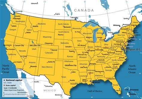 united states map nations online project