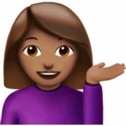 Woman Tipping Hand: Medium Skin Tone Emoji (U+1F481, U+1F3FD)
