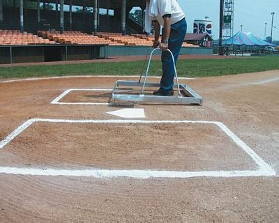 white     softball batters box chalker template