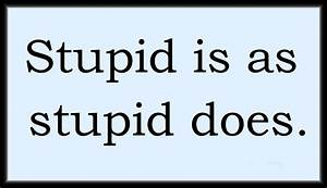 Stupid Is As Stupid Does Forrest Gump Quotes. QuotesGram