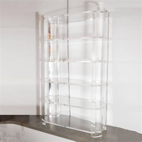 showroom kitchen cabinets for mid century modernist faceted lucite etagere attributed to 7934