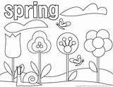 Spring Coloring Themed Pages Printable Getdrawings sketch template