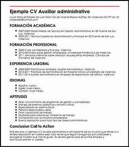 Ejemplo Cv Auxiliar Administrativo Principiante