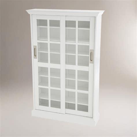 white storage cabinet with doors white sliding door storage cabinet world market