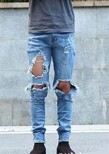 2016 Fashion Menu0026#39;s KANYE WEST Ripped Jeans Good Quality ...
